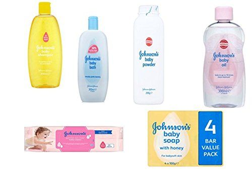 From 8.16 Johnsons Baby Care Set 6 Pieces Includes Baby Shampoo Baby Oil Baby Powder Baby Bath 56 Baby Wipes & Pack Of 4 Johnson's Baby Soap With Honey