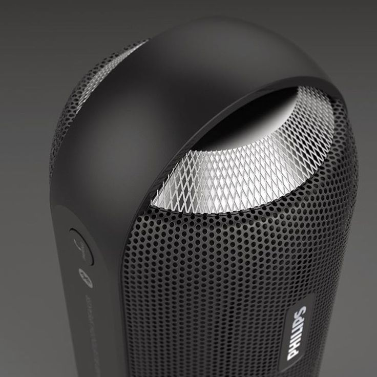 """55 Likes, 1 Comments - Charlie (@greymatterdesign) on Instagram: """"Philips BT6000 Bluetooth speaker rendering highlighting the details. Specifically the aluminium…"""""""