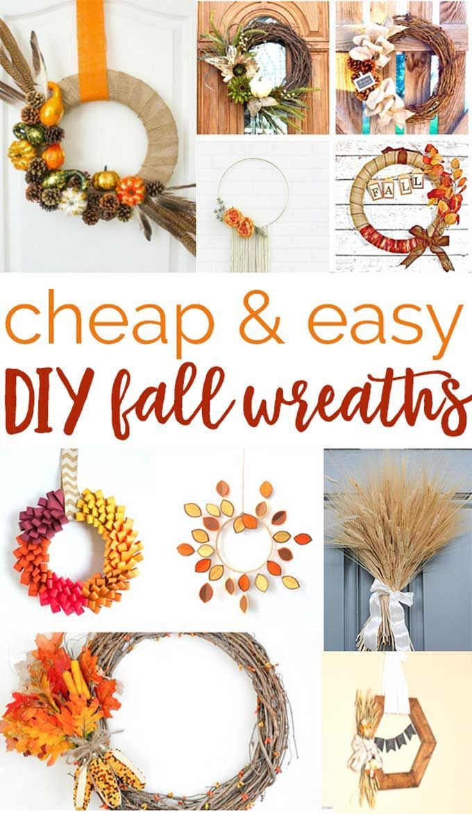 748 best diy home decor projects images on pinterest diy free over 20 cheap and easy diy fall wreaths you can make at home no pinterest