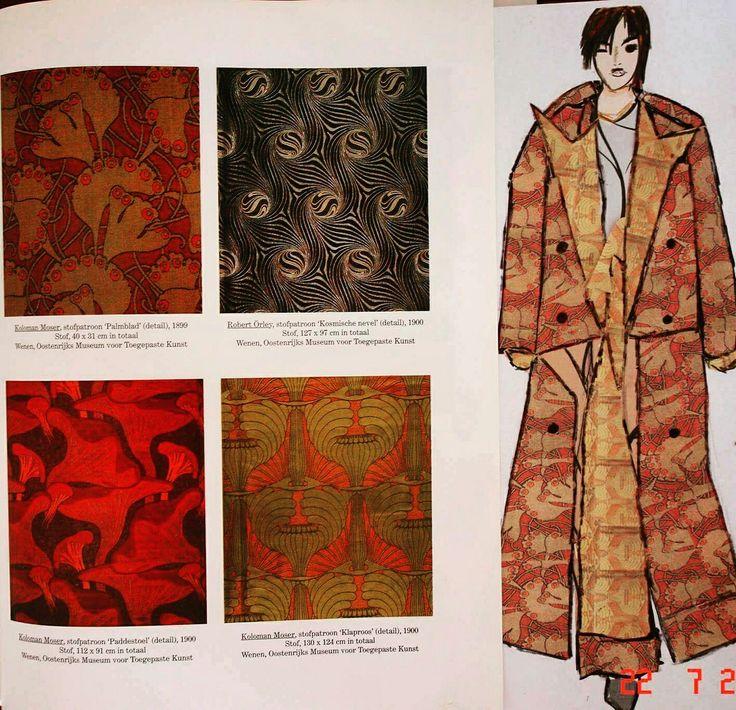 Koloman Moser inspiratie ontwerp collectie.