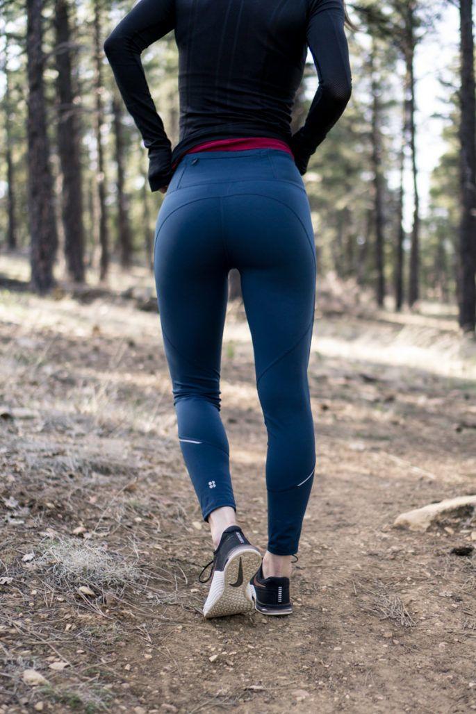 Sweaty Betty teal running leggings
