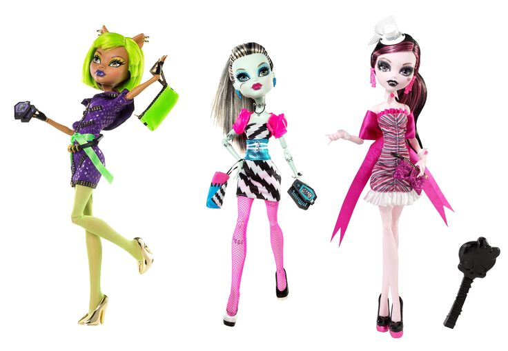 Clawdeen Wolf, Frankie Stein, and Draculaura  Dawn of the Dance Wave 2 Mattel Monster High doll WalMart exclusive July 2011