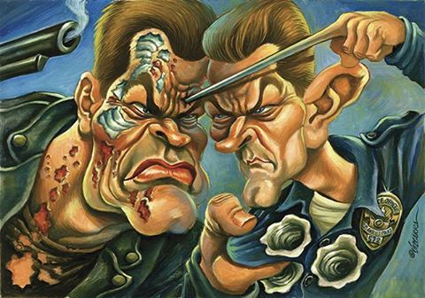 Terminator 2 Caricature by Joan Vizcarra