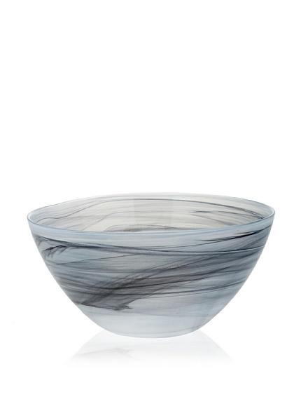 Shiraleah Polished Alabaster Large Round Bowl (Grey)
