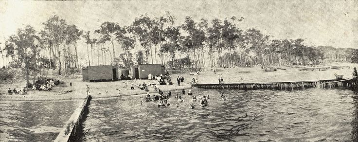 Public swimming baths at Wangi, Lake Macquarie.  This image was scanned from a photograph in the Newcastle and Hunter District Historical Society archives which are held by Cultural Collections at the University of Newcastle, Australia.  If you have any information about this photograph, please contact us.  Please contact us if you are the subject of the image, or know the subject of the image, and have cultural or other reservations about the image being displayed on this website and would…
