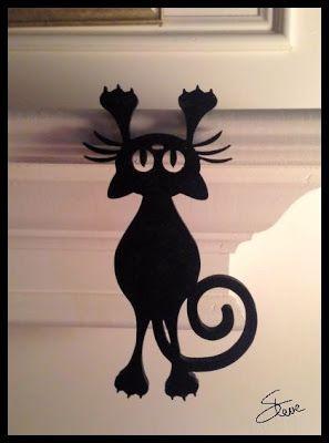 Scrollsaw Workshop: Hanging Black Cat Scroll Saw Pattern.