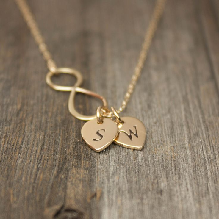 Gold Infinity Necklace  Personalized Jewelry . Gold by sevgicharms, $44.00