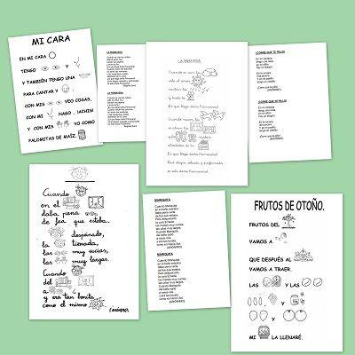 Poesias con pictogramas para los mas peques