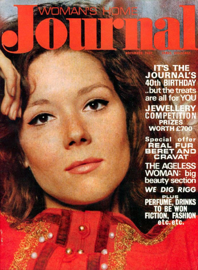 Diana Rigg (The avengers / Los vengadores). Woman's Home Journal, November 1967 (Noviembre de 1967) from/de: Mocho's blog