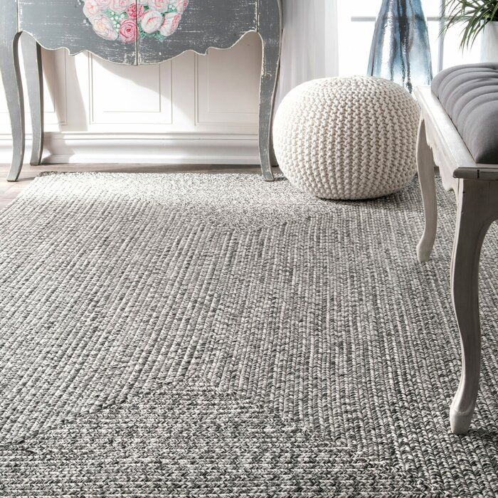 Wade Logan Braided Handmade Hand Braided Gray Off White Indoor Outdoor Area Rug Reviews Wayfair Grey Area Rug Area Rugs Indoor Outdoor Area Rugs