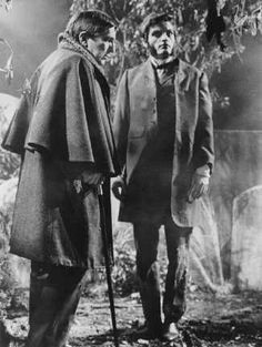 Jonathan Frid as Barnabas Collins & David Selby as Quentin Collins on Dark Shadows