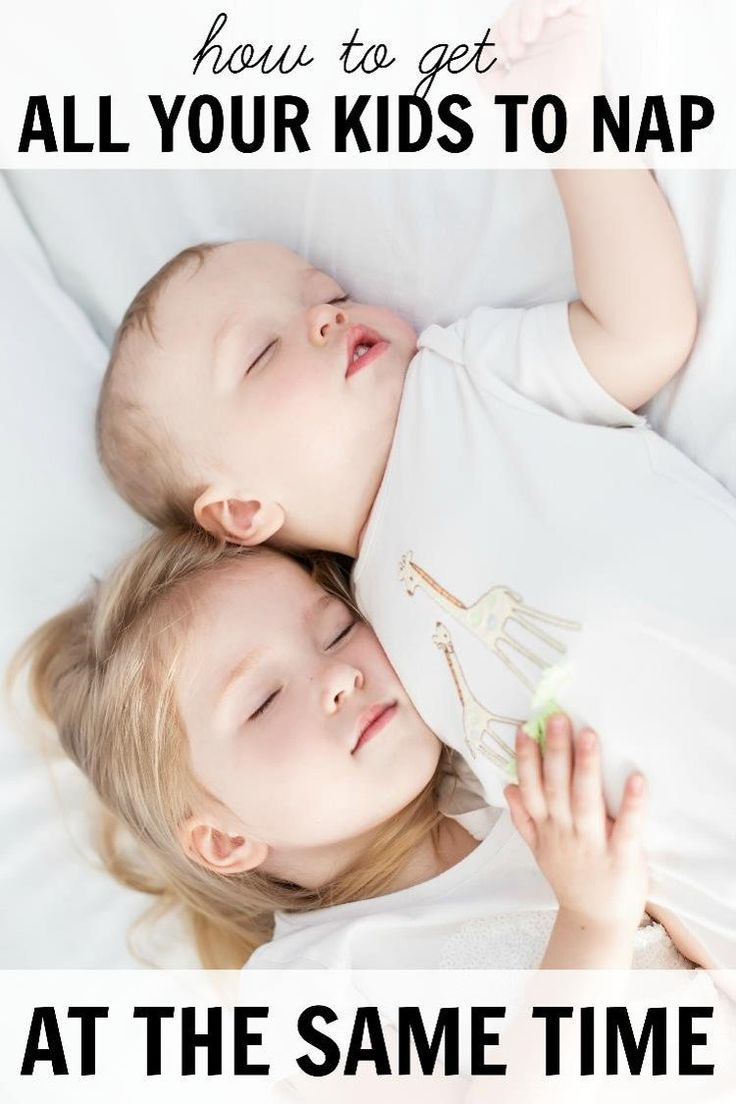 How to get all your kids to nap at the same time. This is great sleep training information or troubleshooting sleep issues with newborns, babies, and toddlers.