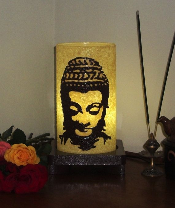 Buddha Lamp Silhouette Brown by Aartico on Etsy