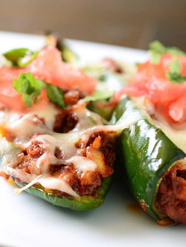 Stuffed poblano peppers, Chorizo and Pepper jack cheese on Pinterest