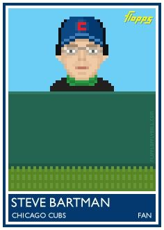 Flopps Baseball Cards - steve bartman: