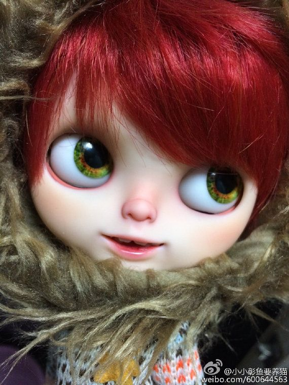 eyes and red hair