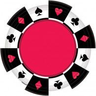 Place Your Bets Luncheon Paper Plates Pkt8 $6.95 A541227