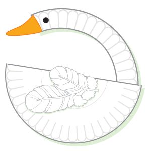 Adorable paper plate swan