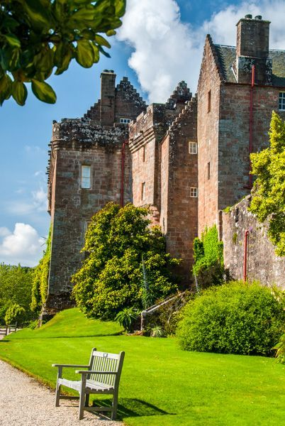 Brodick Castle ༺✿༺ Isle of Arran, Firth of Clyde, Scotland.  Brodick was the home for 400 years of the Hamilton family, the Earls of Arran.