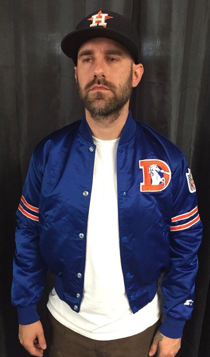 Denver Broncos satin jacket starter proline by Therichesofthepoor on Etsy https://www.etsy.com/listing/290753555/denver-broncos-satin-jacket-starter