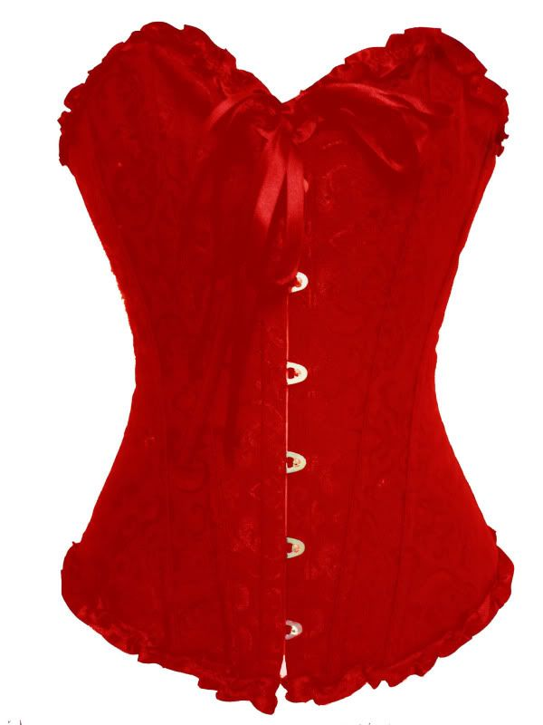 Red Victorian Corset ( Get your goth on with gothic punk clothing - a favorite repin of www.vipfashionaustralia.com )