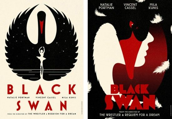 Fonts in Use: Black Swan Posters