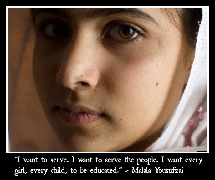 Malala is an activist for girls' education rights.