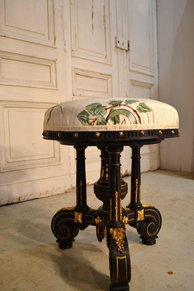 Tabouret de piano Napoléon III | Antic France