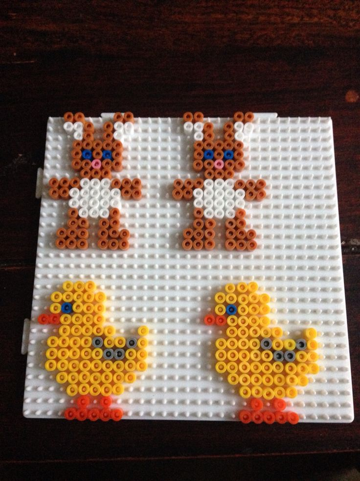 Easter decorations hama perler beads by Dorte Marker