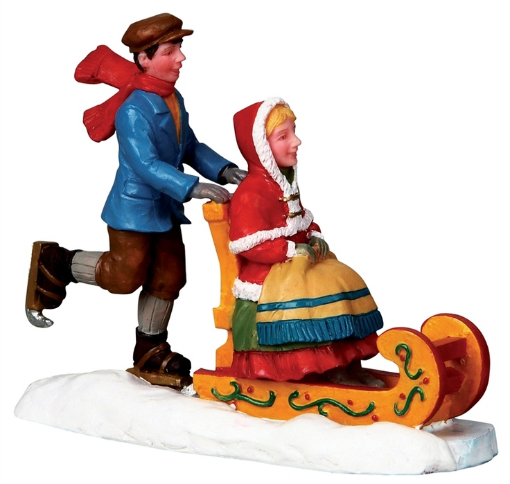 Ice Sledding by Lemax Collections