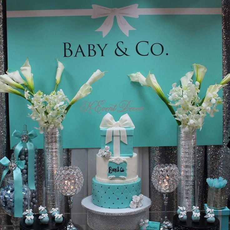 25 best ideas about tiffany baby showers on pinterest for Baby shower at home decorations