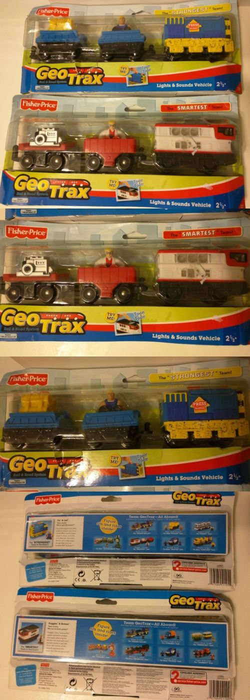 GeoTrax 158742: Fisher Price Geotrax The Smartest Team Strongest Goggles Bunsen Ox Jed Train New -> BUY IT NOW ONLY: $34.99 on eBay!