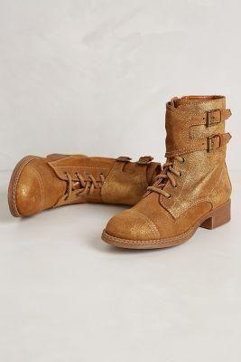 Anthropologie Golden Winterthur Boots...