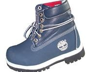 Timberland Blue and Red Women's Roll-Top boot