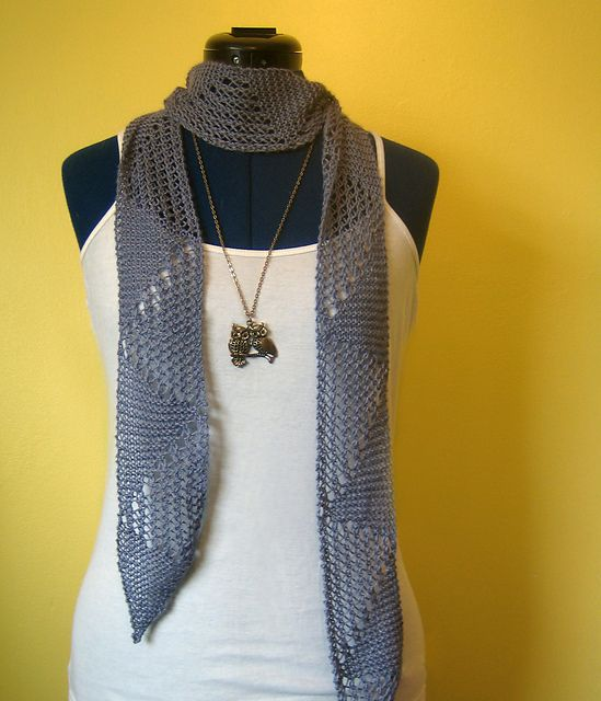 Ravelry: Tessellate - One Skein Summer Scarf pattern by Michelle May