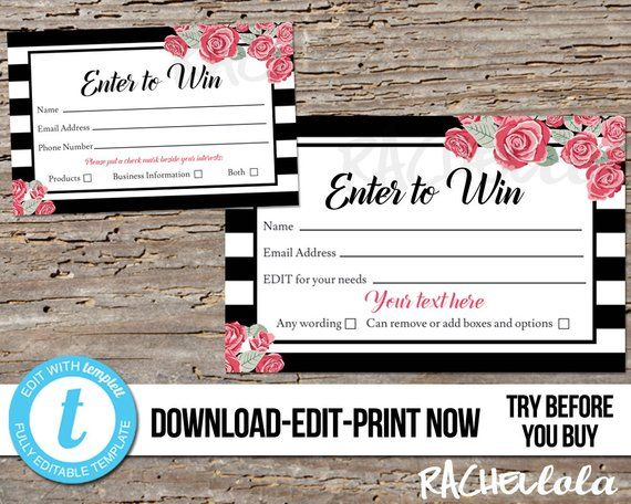 Editable Raffle Ticket Template Printable Door Prize Entry