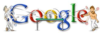 1st #tabletennis related Google doodle during 2004 #Olympics #Athens