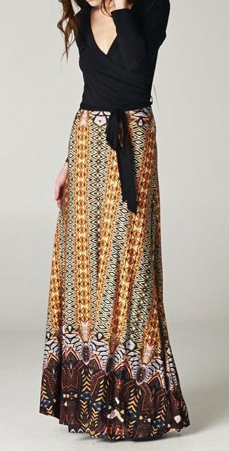 Boho Wrap Maxi Dress ♥love this worried i might be too short to wear it though lol