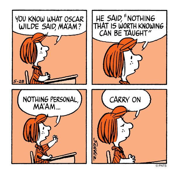 Class with Peppermint Patty.                                                                                                                                                                                 More