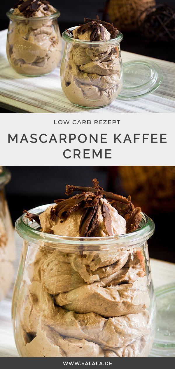 Mascarpone Schokoladen Kaffee Creme Low Carb Dessert schön cremig   – Dessert