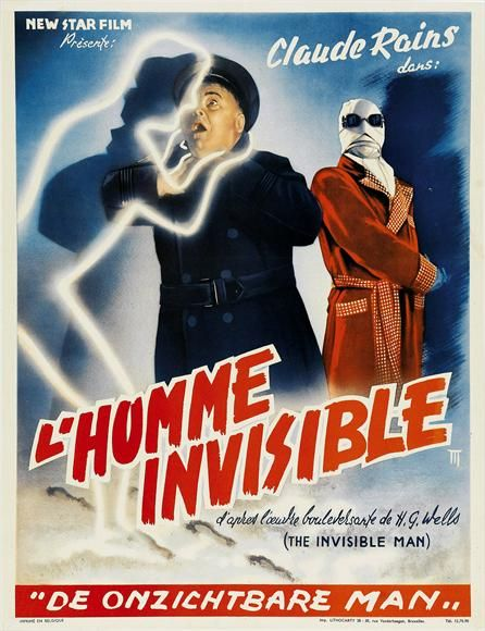 Invisible Man, French Cinema Poster
