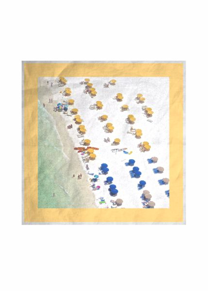 Silk Square Scarf - Abstract Dogs Scarfe by VIDA VIDA kqrJFqOdCE