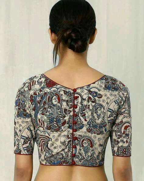 kalamkari designed blouse