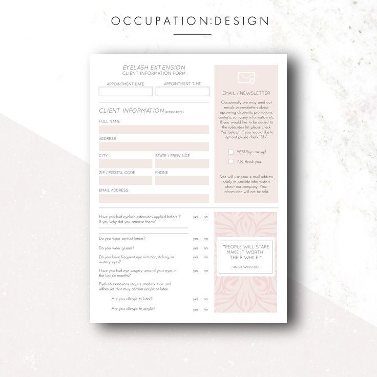 eyelash extension consent form pdf
