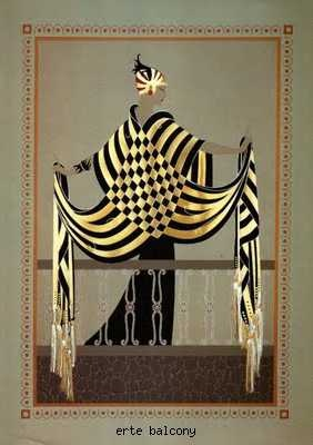 Amazing Erte Cape.  So inspired by this look!