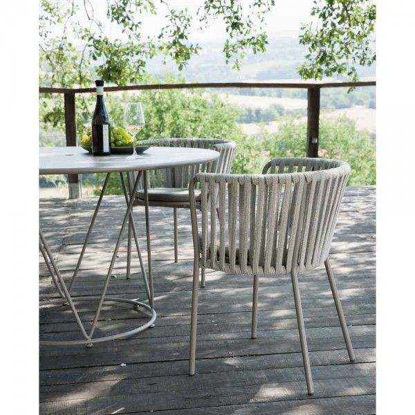Gartenstuhl Seilbespannung Danny Taupe Stuhle