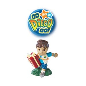 Go Diego Go!  Candle. Handpainted, clean-burning with colourful details.  3.25 inches high.