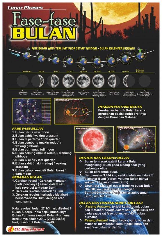 Poster Pendidikan Peraga Fase-fase Bulan