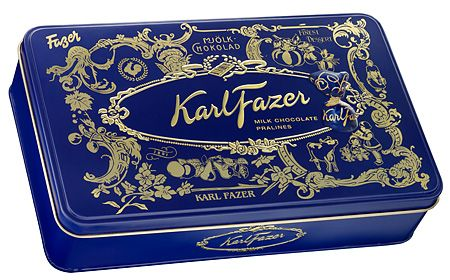 Karl Fazer Tinbox, packaging and best chocolate in the world.