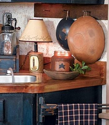Primitive kitchen | My Dream House | Pinterest